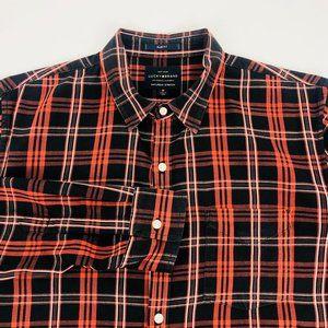 Lucky Brand Saturday Stretch Slim Plaid Shirt M